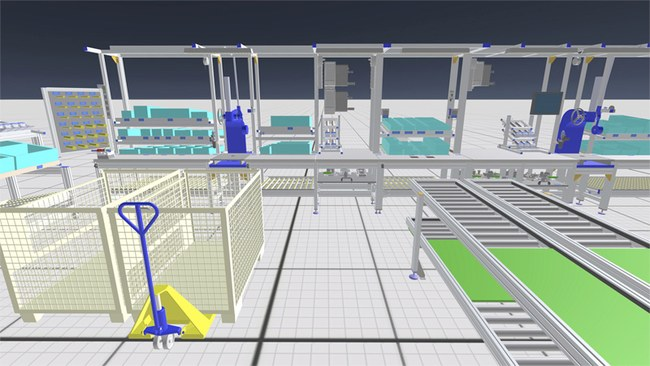 Completely realistic assembly systems in virtual reality