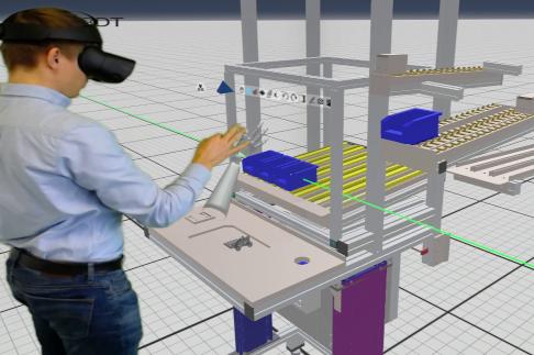 man using virtual prototyping